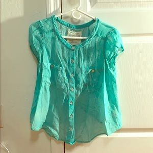 Free People Tie Dye Blue Top